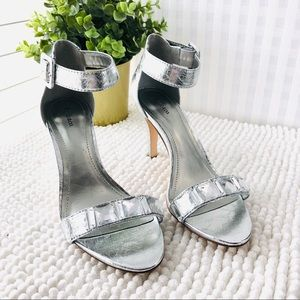 Style & Co high heel sandals silver embellished